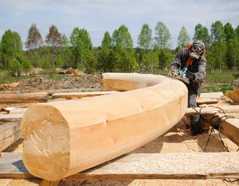 Фото стройплощадки для изготовления деревянных домов